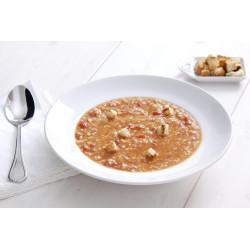 Trahanas soup with fresh tomato